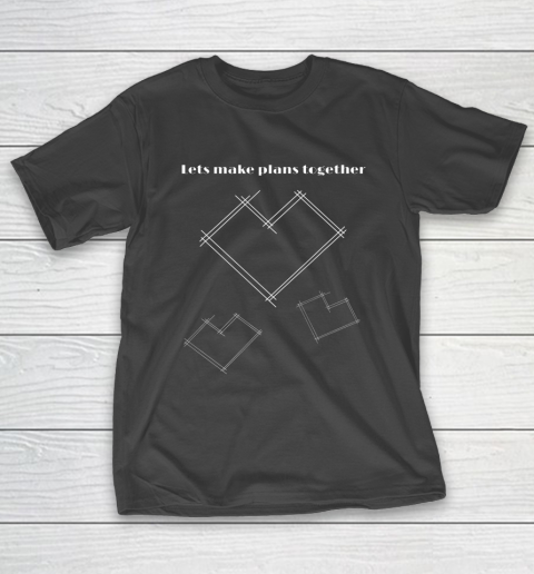Valentine Architect T Shirt Heart Architecture Student T-Shirt