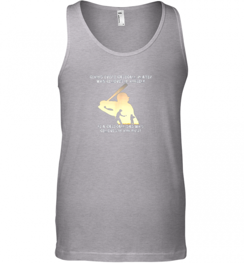16tu mens behind every baseball player is a dad that believes unisex tank 17 front sport grey