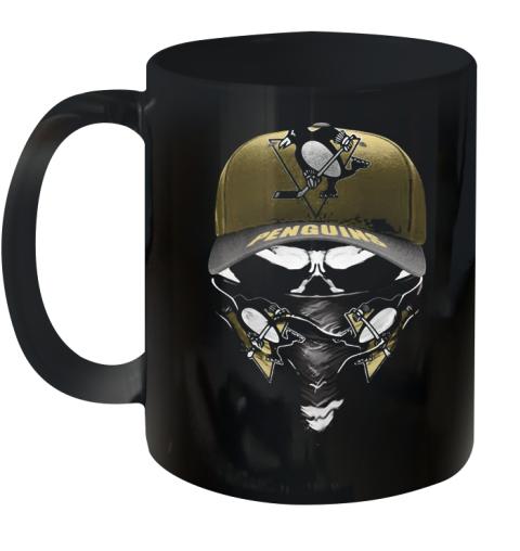 Skull Mask Pittsburgh Penguins Hockey Logo Ceramic Mug 11oz