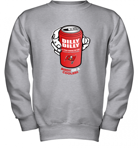 Bud Light Dilly Dilly! Tampa Bay Buccaneers Birds Of A Cooler Youth Sweatshirt