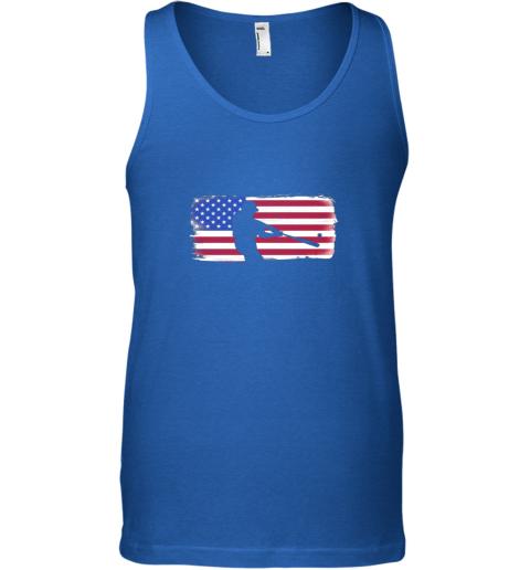 ndma usa american flag baseball player perfect gift unisex tank 17 front royal