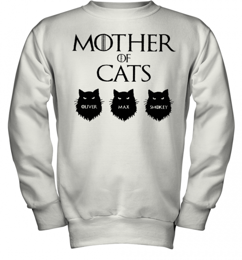 Mother Of Cats GOT Personalized Youth Sweatshirt
