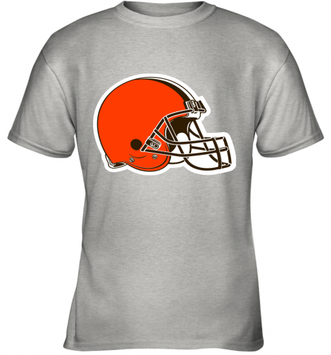 iozq cleveland browns nfl pro line by fanatics branded brown victory youth t shirt 26 front ash