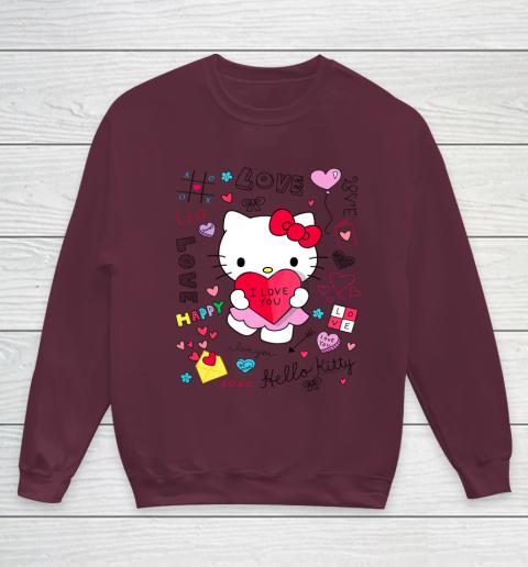 Hello Kitty Love Notes Valentine Tee Youth Sweatshirt 4