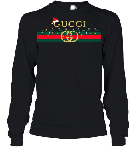 Gucci Logo_Vintage Christmas Light Gift Youth Long Sleeve T-Shirt
