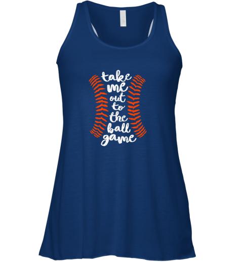 uzzp take me out ball game shirt baseball song orange black blue flowy tank 32 front true royal