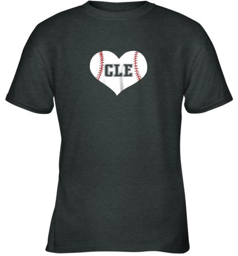 54nz cleveland ohio baseball love heart cle gift jersey fan youth t shirt 26 front dark heather