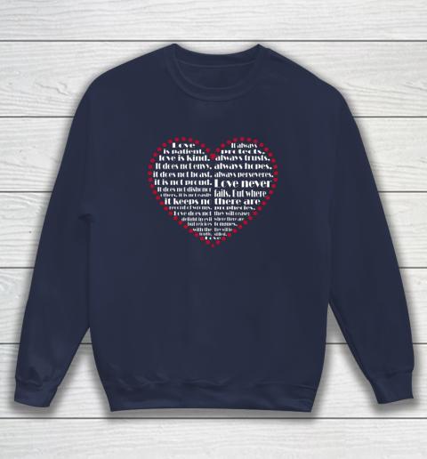 Love is patient love is kind Valentine Hearts Valentines day Sweatshirt 2