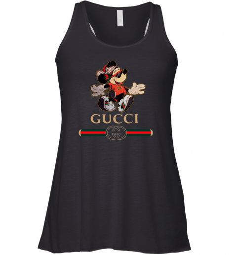 Gucci Mickey Fashion Stylelist Music Womens Racerback Tank Top