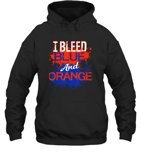 I Bleed Blue And Orange Fan Shirt Football Soccer Baseball Hoodie