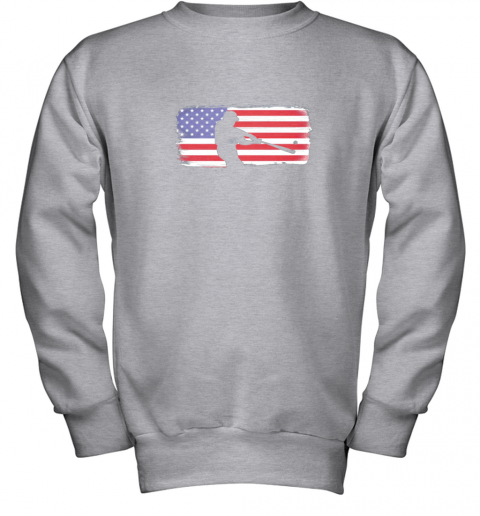txxv usa american flag baseball player perfect gift youth sweatshirt 47 front sport grey
