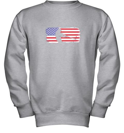 txxv usa american flag baseball player perfect gift youth sweatshirt 47 front sport grey