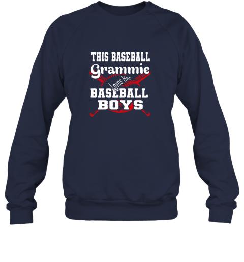 91nx this baseball grammie loves her baseball boys sweatshirt 35 front navy