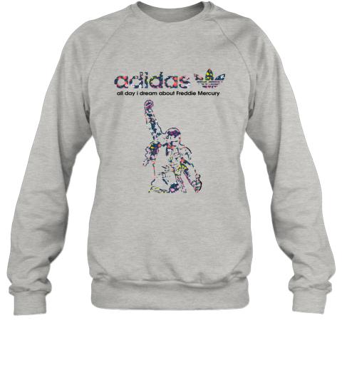 Adidas All Day I Dream About Freddie Mercury Floral Sweatshirt