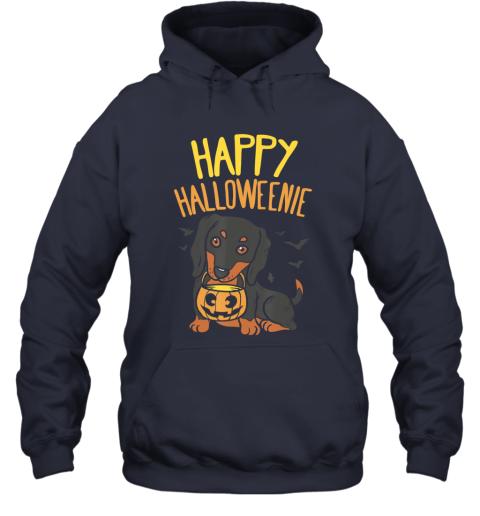 Happy Halloweenie, Dachshund Dog Halloween Wiener Boy Hoodie