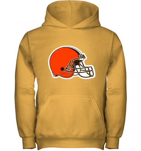 3qw3 cleveland browns nfl pro line by fanatics branded brown victory youth hoodie 43 front gold