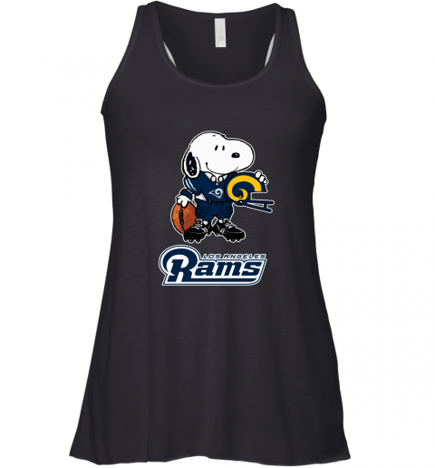 Snoopy A Strong And Proud Los Angeles Rams Player NFL Racerback Tank
