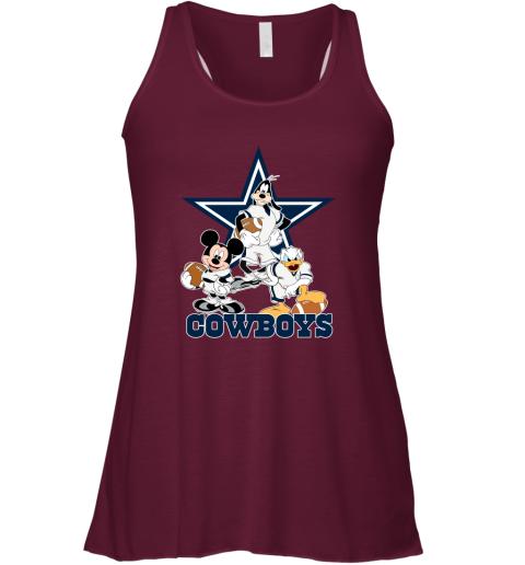 Mickey Donald Goofy The Three Dallas Cowboys Football Racerback Tank