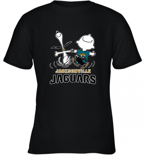 Snoopy & Charlie Brown Happy Jacksonville Jaguars Youth T-Shirt