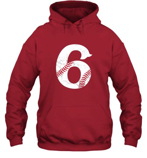 f1zu kids happy birthday 6th 6 year old baseball gift boys girls 2013 hoodie 23 front red