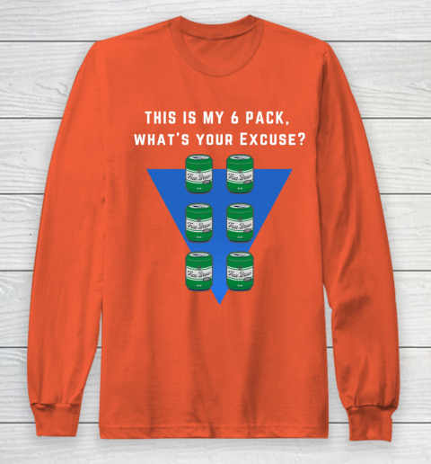 Beer Lover Funny Shirt 6 pack Flat belly  Abs made of 6 pack Beers Long Sleeve T-Shirt 3