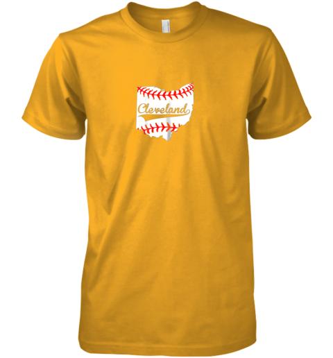 fykr cleveland ohio 216 baseball premium guys tee 5 front gold