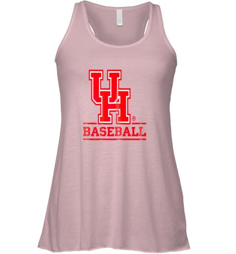 rspo university of houston cougars baseball shirt flowy tank 32 front soft pink