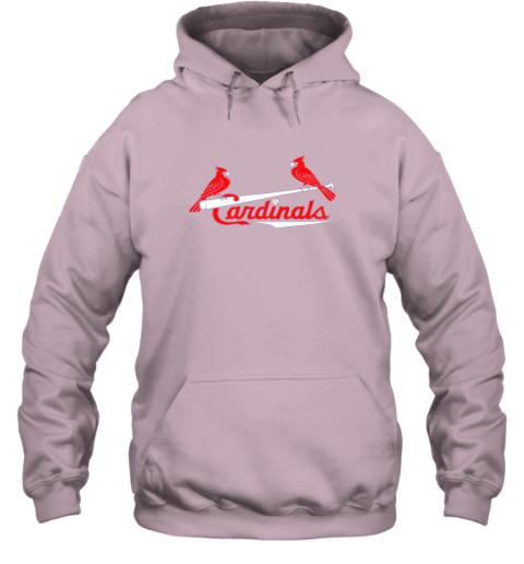 tfhp cardinal sports shirtst louis baseball fan hoodie 23 front light pink