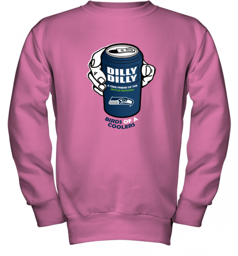 Bud Light Dilly Dilly! Los Seattle Seahawks Birds Of A Cooler Youth Sweatshirt