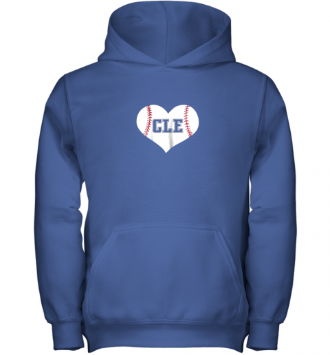 2q5b cleveland ohio baseball love heart cle gift jersey fan youth hoodie 43 front royal