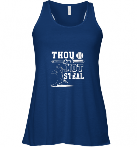 uym7 funny baseball thou shall not steal baseball player flowy tank 32 front true royal