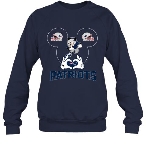 rmpk i love the patriots mickey mouse new england patriots sweatshirt 35 front navy