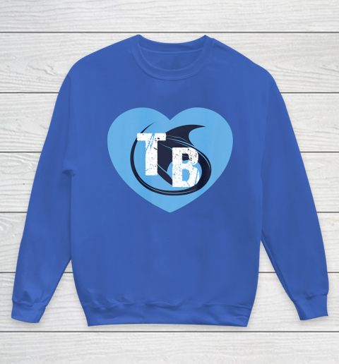 Stingray Love Tampa Bay Vintage TB Cool Tampa Bay Heart Youth Sweatshirt 8