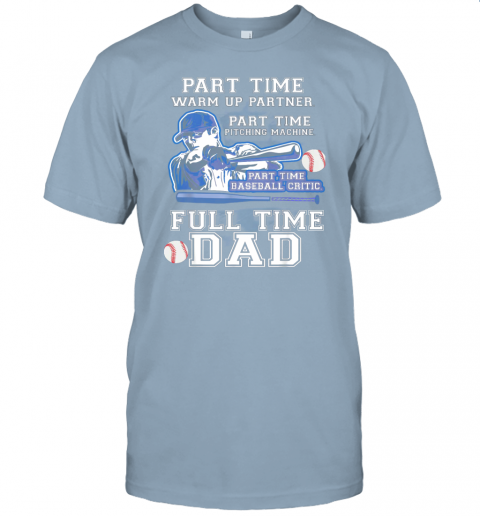 dyxw mens part time warm up partner pitching machine baseball dad jersey t shirt 60 front light blue