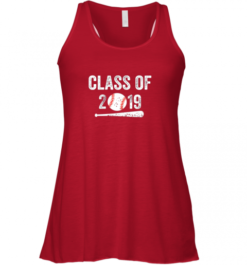 utoa class of 2019 vintage shirt graduation baseball gift senior flowy tank 32 front red