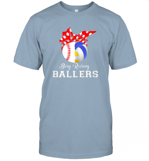 o052 baseball volleyball busy raising ballers shirt mothers day jersey t shirt 60 front light blue