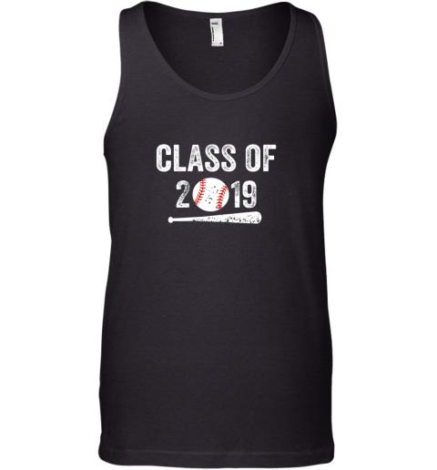 Class of 2019 Vintage Shirt Graduation Baseball Gift Senior Tank Top