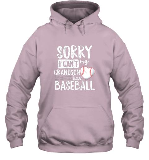 nv3u sorry i can39 t my grandson has baseball shirt grandma hoodie 23 front light pink