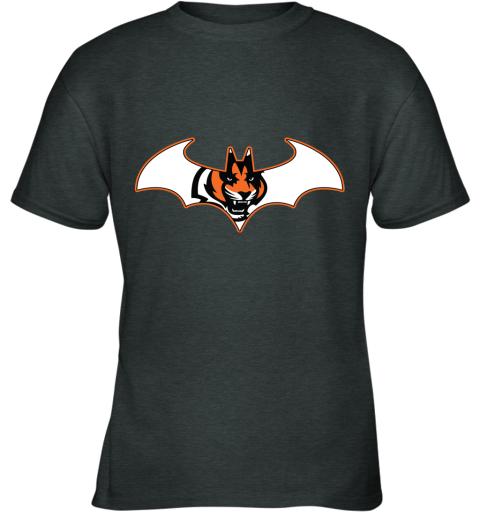 ls45 we are the cincinnati bengals batman nfl mashup youth t shirt 26 front dark heather