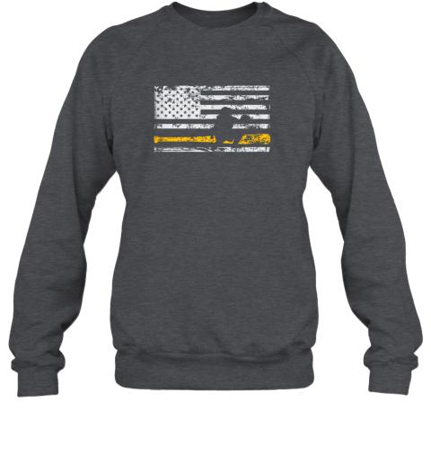 qeko softball catcher shirts baseball catcher american flag sweatshirt 35 front dark heather
