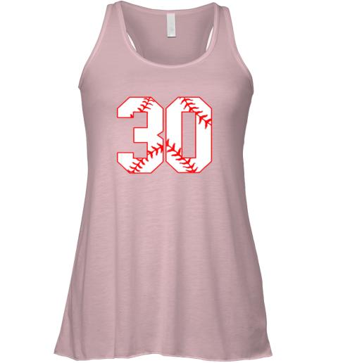 6ruj thirtieth birthday party 30th baseball shirt born 1989 flowy tank 32 front soft pink