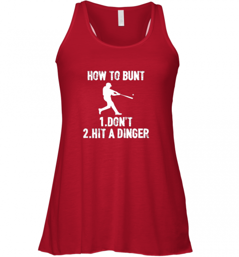 wmvt how to bunt don39 thit a dinger funnybaseball flowy tank 32 front red