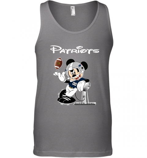 ax4n mickey patriots taking the super bowl trophy football unisex tank 17 front graphite heather