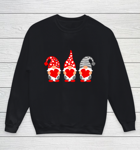 Gnomes Hearts Valentine Day Shirts For Couple Youth Sweatshirt