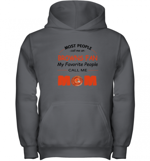 l0uq most people call me cleveland browns fan football mom youth hoodie 43 front charcoal