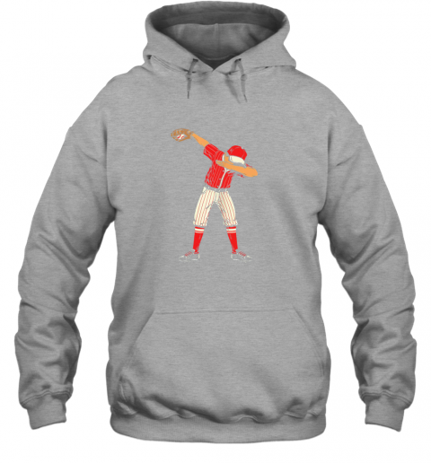 ykjq dabbing baseball catcher gift shirt men boys kids bzr hoodie 23 front sport grey