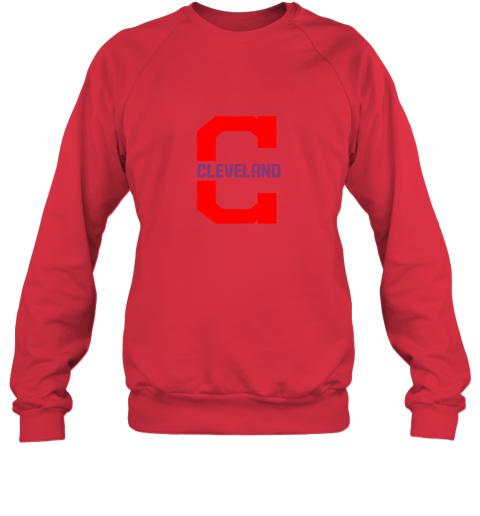 rpz5 cleveland hometown indian tribe vintage for baseball sweatshirt 35 front red