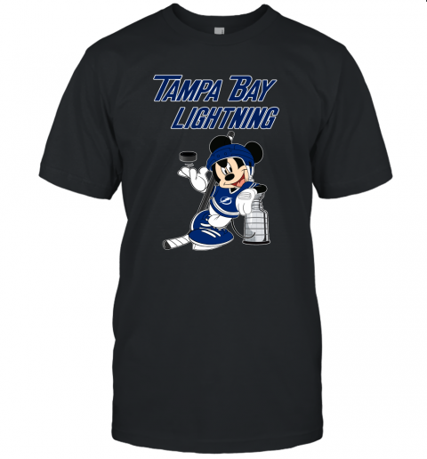 rcnl mickey tampa bay lightning with the stanley cup hockey nhl jersey t shirt 60 front black