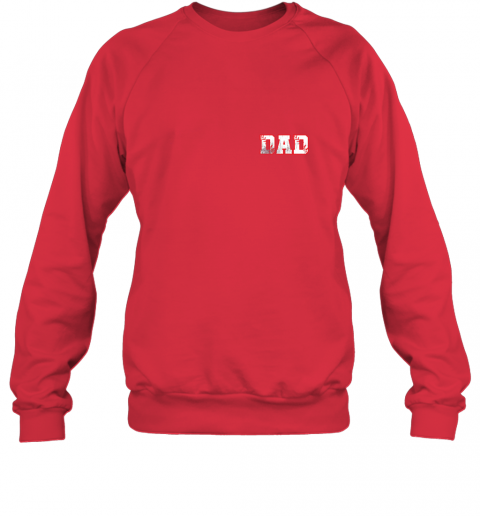 chhd mens baseball inspired dad fathers day distressed sweatshirt 35 front red