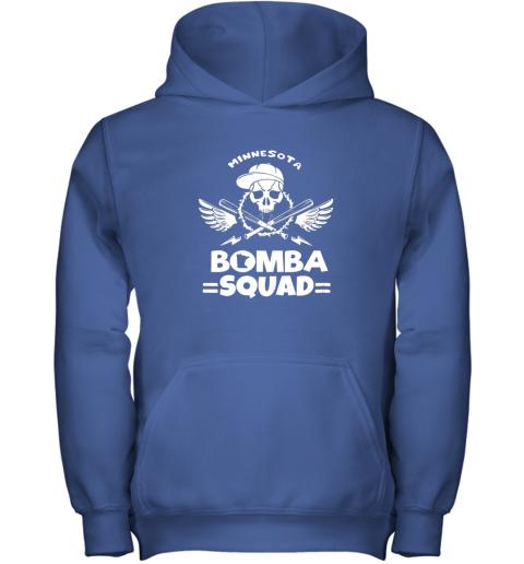 imaz bomba squad twins shirt minnesota baseball men bomba squad youth hoodie 43 front royal